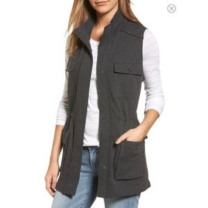 Grey Tunic Length Utility Vest